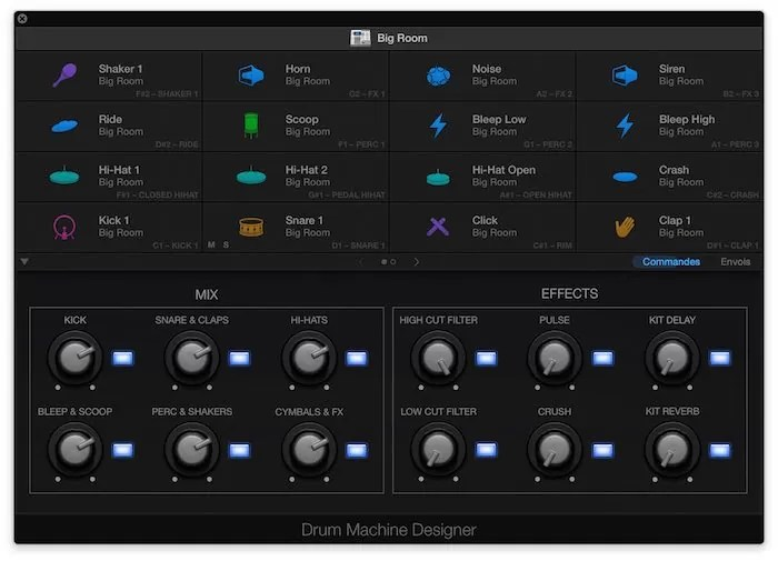 Drum Machine Designer Logic pro X 10.1