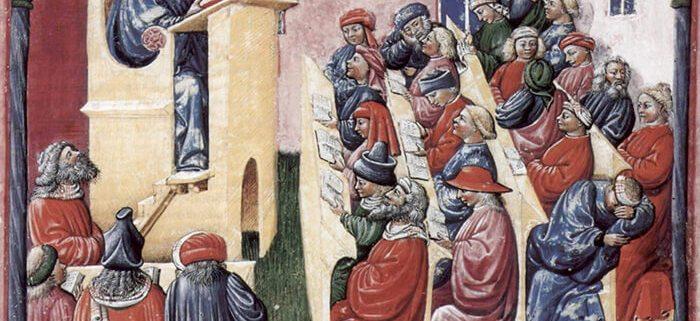 Laurentius de Voltolina - Illustration of education in 14th century