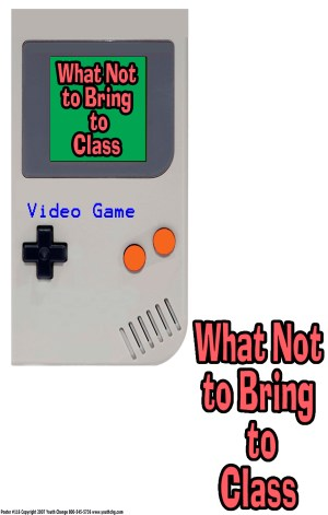 No video games poster