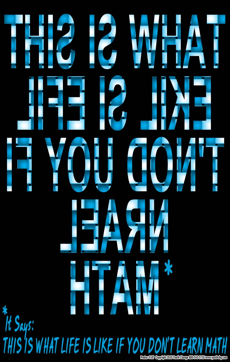 Poster #187 - Math Motivation Poster for Classrooms - Youth Change