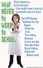 school rules poster dress code