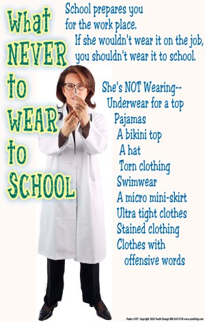 school dress code rules poster