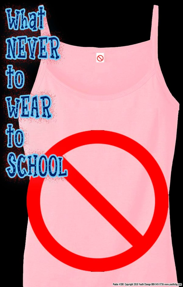 classroom poster with dress code rules