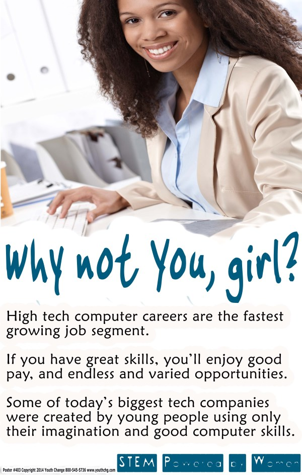Computer and tech class poster for girls