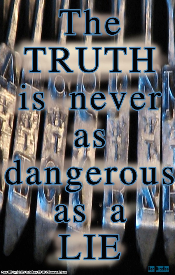 Classroom poster about truth and lies