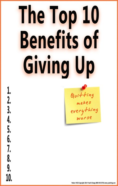 poster for students who give up