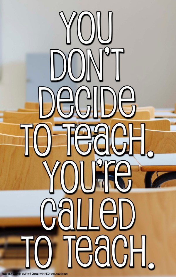 Inspirational teacher poster