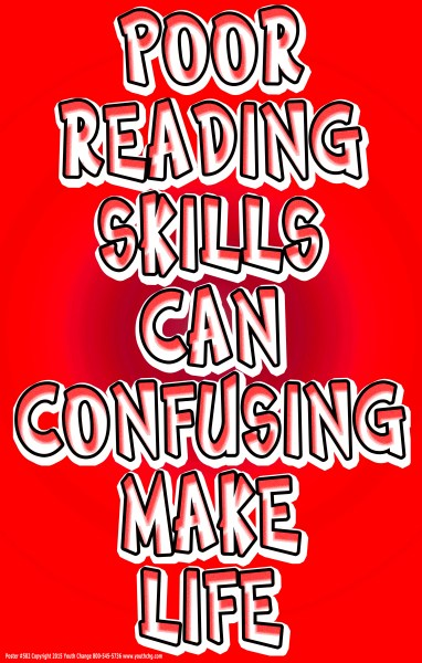 motivational reading skills poster