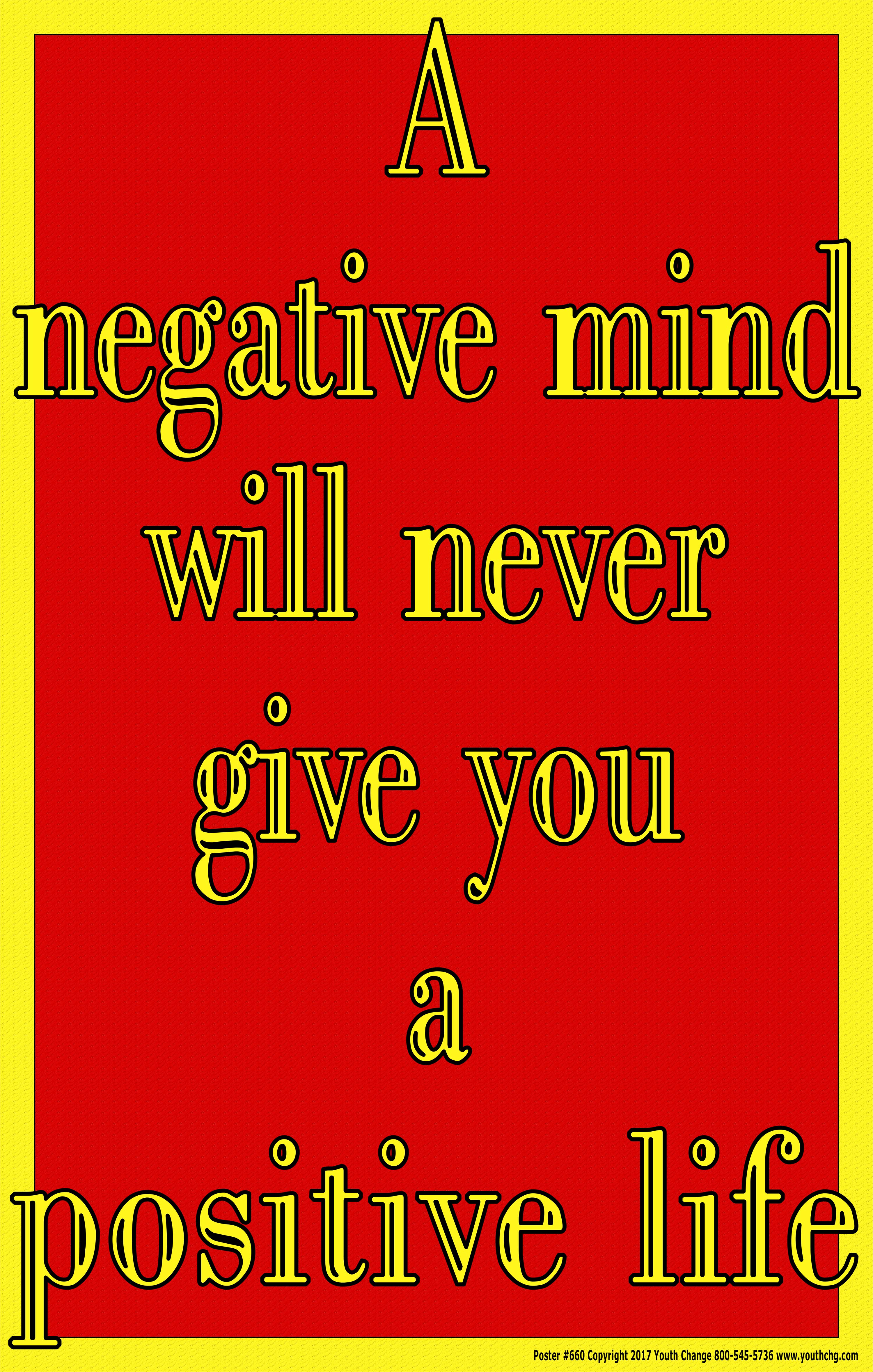 Positive Attitude Poster Reduces Student Negativity