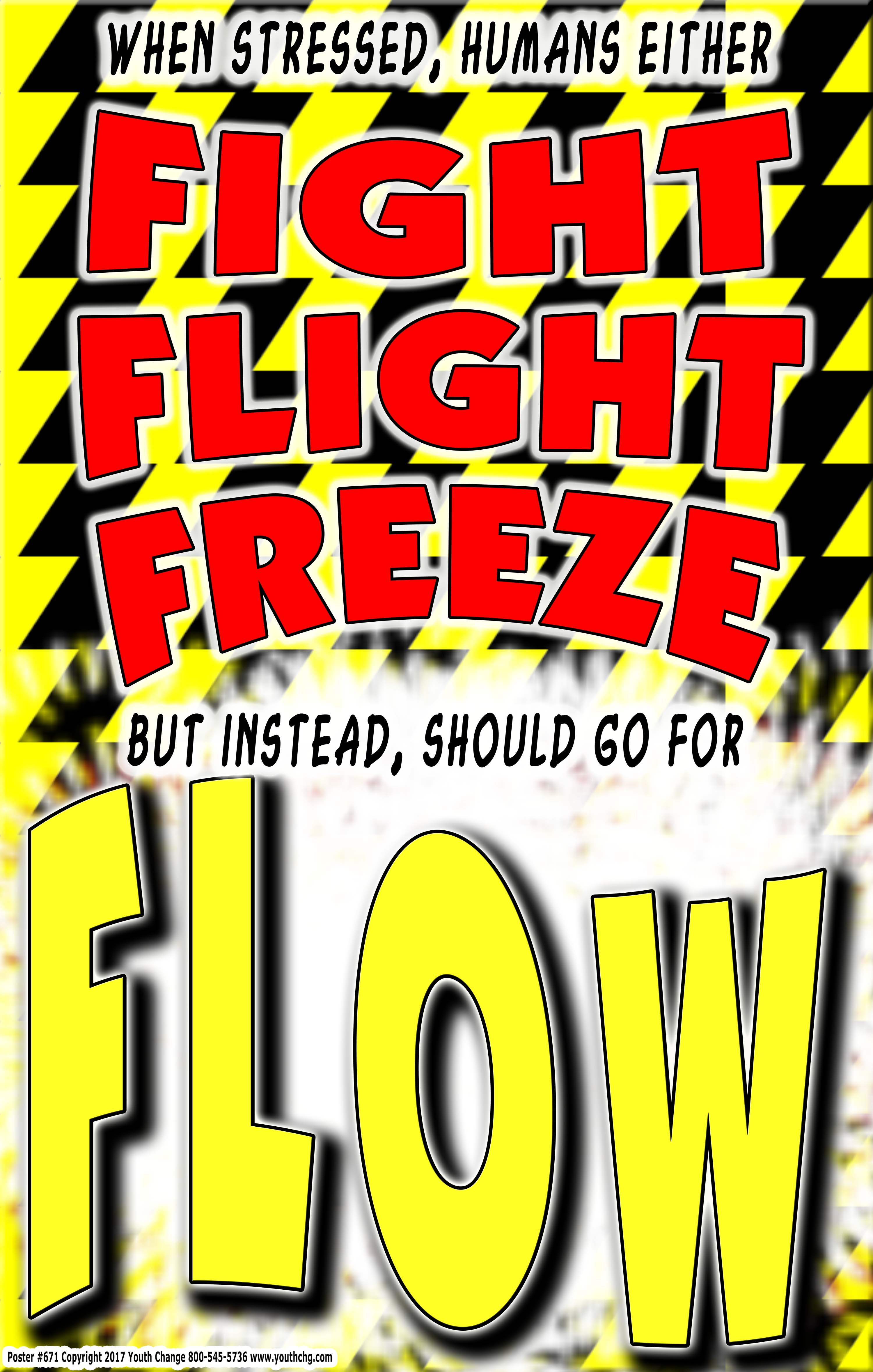 Student Stress Counseling Poster Fight Flight Freeze