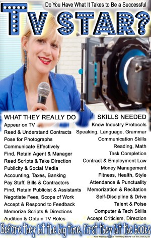 career ed student poster