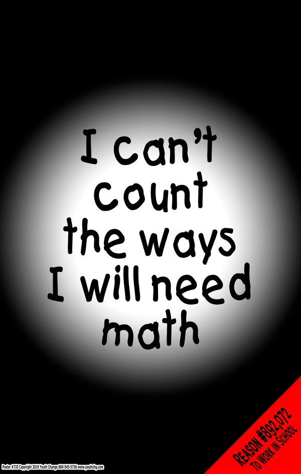 student math motivational poster