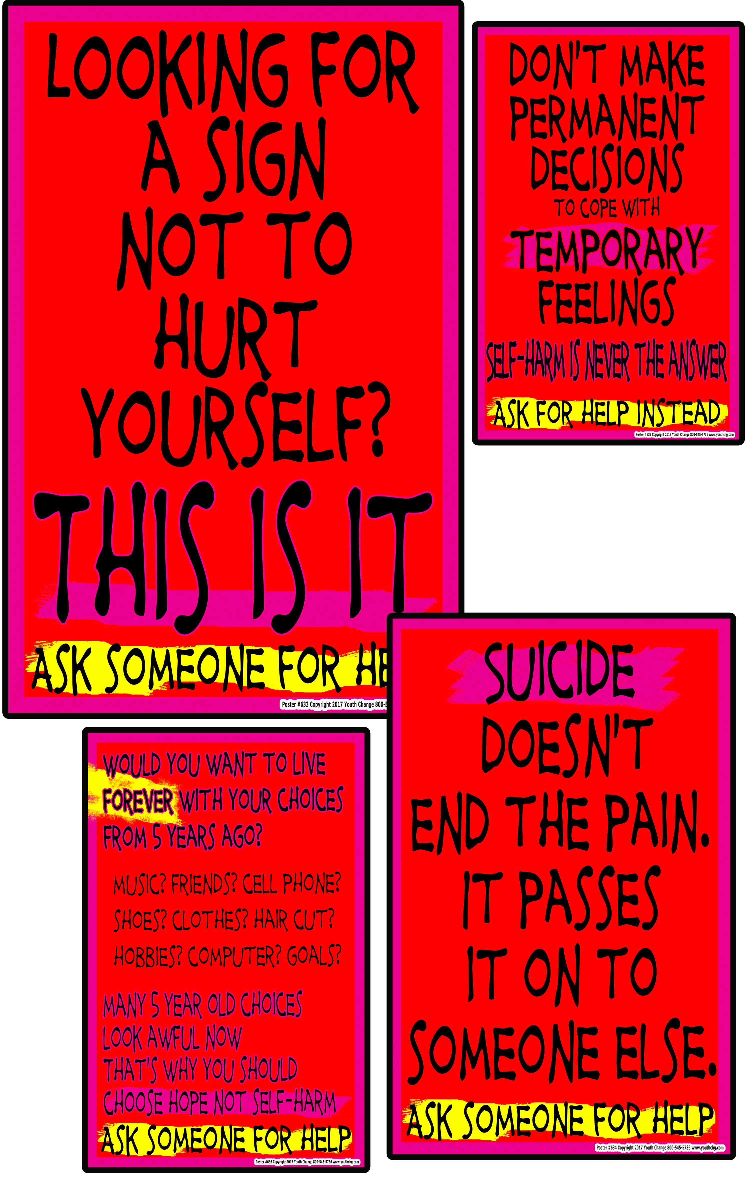 Poster Set S030 High School Suicide Prevention Posters