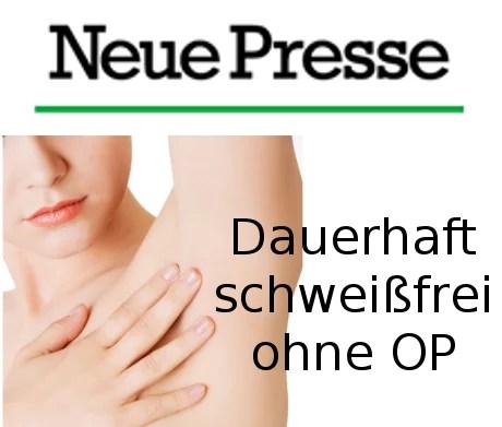 Neue Presse Hannover Schweißtherapie