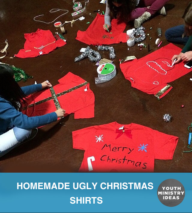 Homemade Ugly Christmas Shirts  Youth DownloadsYouth