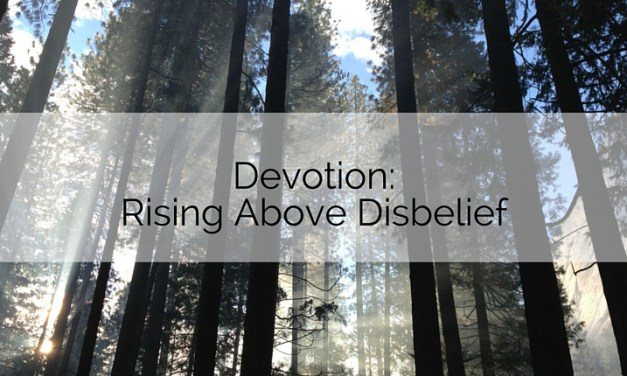 Devotion: Rising above Disbelief