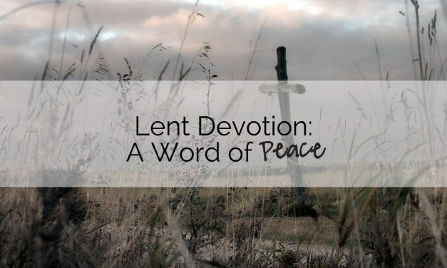 Devotion: A Word of Peace