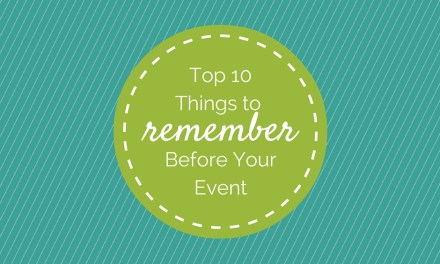 Servant Events: Top 10 Things to Remember Before Your Event