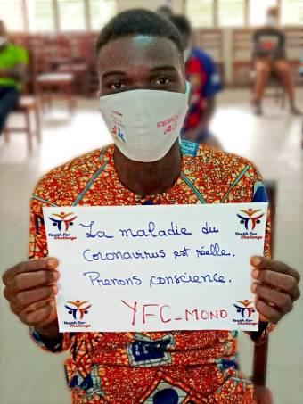 冠状病毒的良性:01 YFC志愿者提高了意识