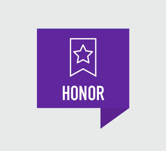 Honor Retreat Icon with Badge