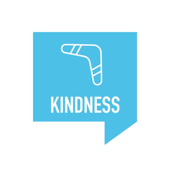 Kindness Retreat Icon with Boomerang