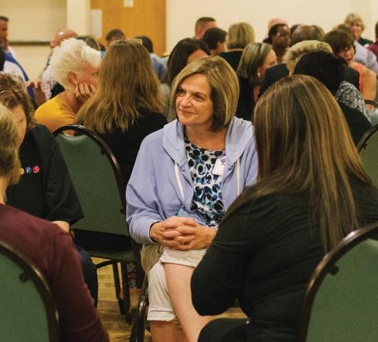Educators building relational trust on an Honor Retreat
