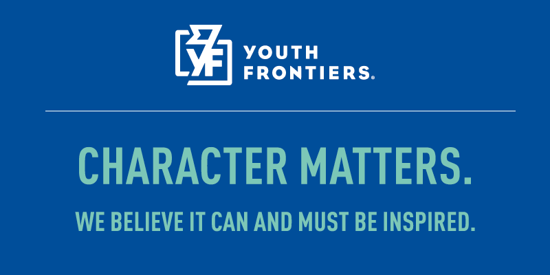 "Youth Frontiers Logo and ""Character Matters"""