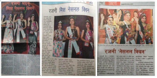 Featured in different newspaper including leading newspapers Kantipur, Nagarik, Rajdhani etc as 2nd Runner up - Miss National Queen 2012