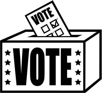 """clip art of a ballot box labelled """"VOTE"""""""