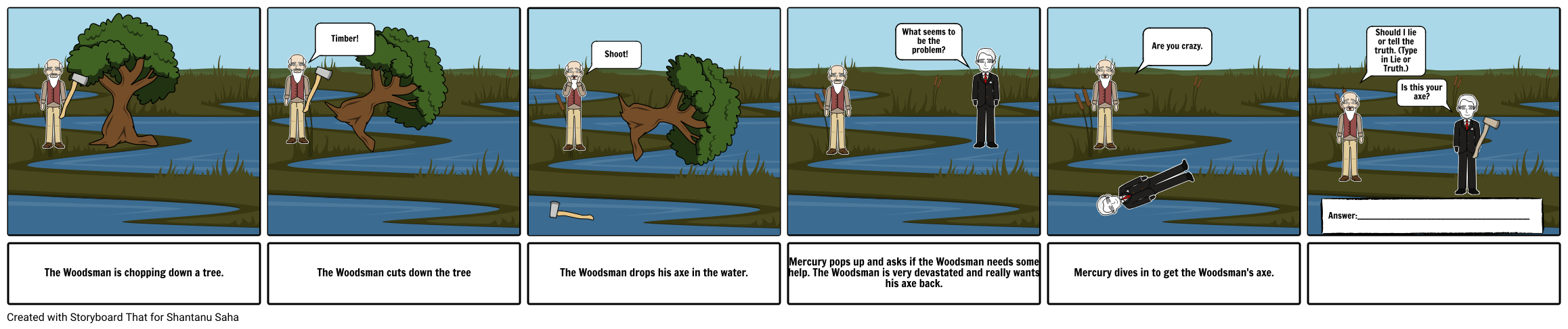 Mercury and the Woodsman Act 1