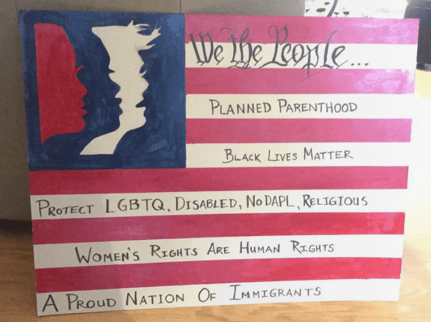 A sign that one of my friends made for the march.