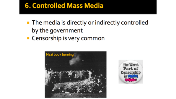 Controlled Mass Media