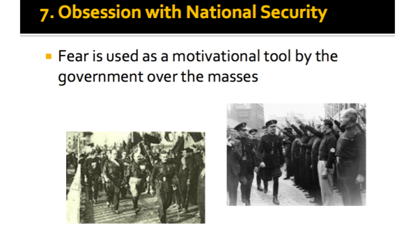 Obsession with National Security
