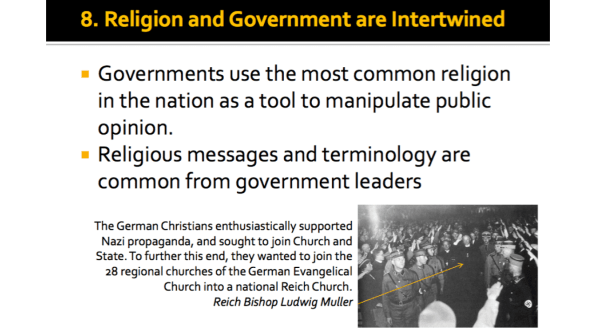 Religion and Government are Intertwined