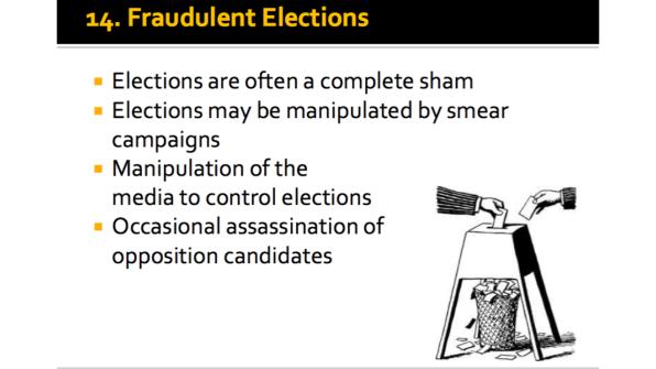 Fraudulent Elections