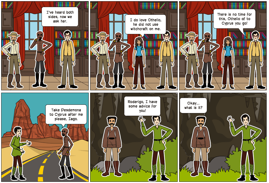 My Awesome Othello Comic Strip