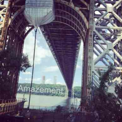 When I was walking under George Washington bridge, I was amazed because it is huge.