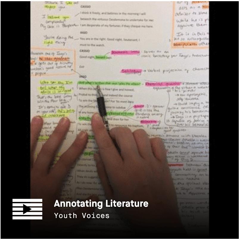 LRNG Playlist: Annotating Literature