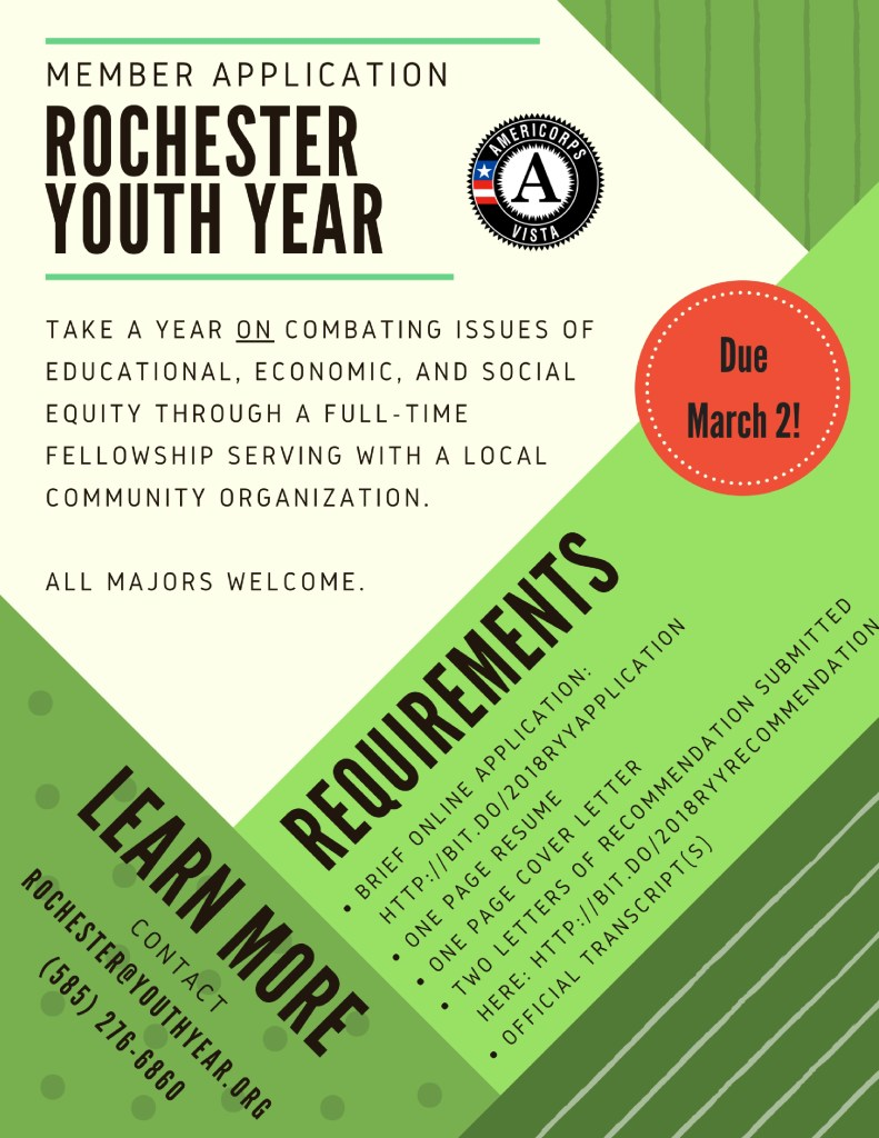 Rochester Youth Year application flyer