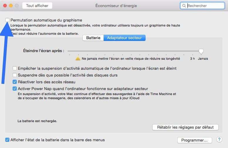 Activer les performances max de votre macbook pro3