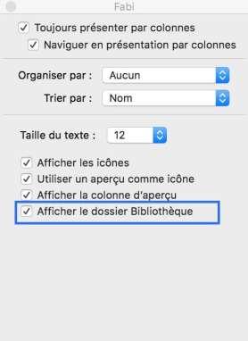 3Réactiver le dossier bibliothèque de votre Mac