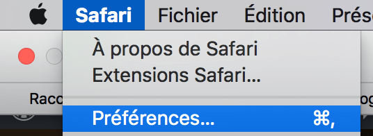 preference logiciel Mac