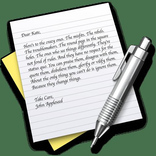 Sélection de texte en colonne dans TextEdit