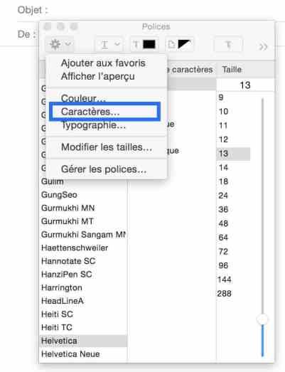 Les caractères spéciaux sur OS X 100001