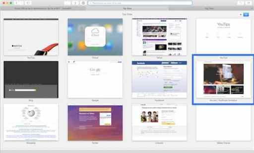 Gérer vos Top Sites sur Safari 3