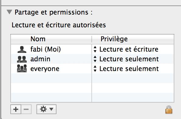 chmod permissions OS X