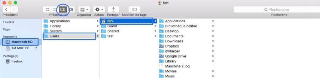 Afficher le dossier bibliothèque de votre Mac de façon permanente 2