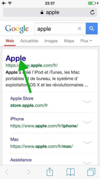 Comment faire une recherche internet sur plusieurs pages sur l'iphone14