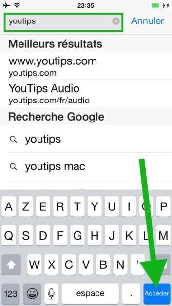 Comment faire une recherche internet sur plusieurs pages sur l'iphone4