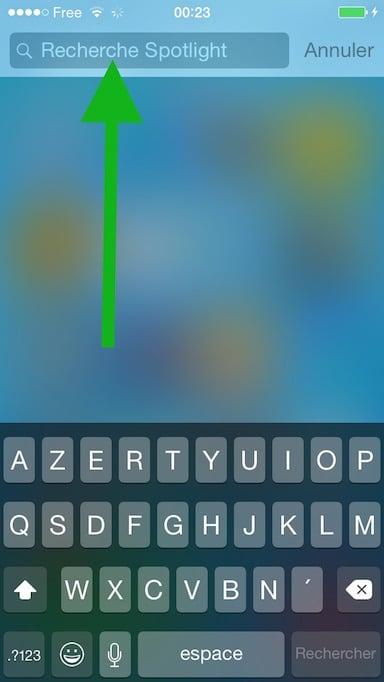 Faire une recherche Spotlight sur iOS2